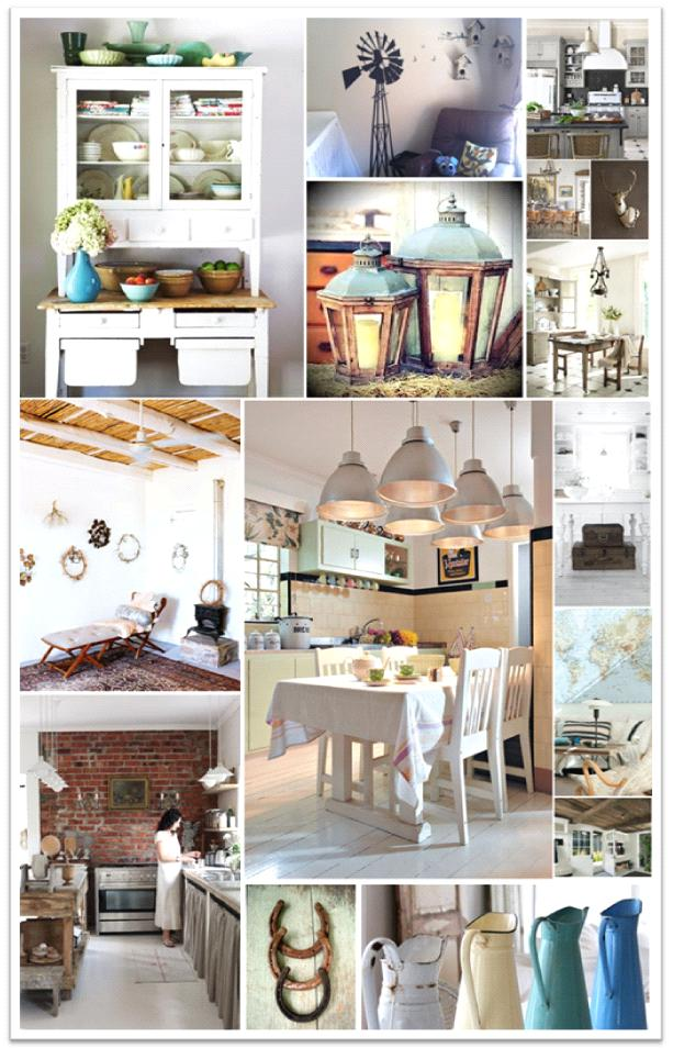 At Home on the Farm – Country Interiors Moodboard | The ...