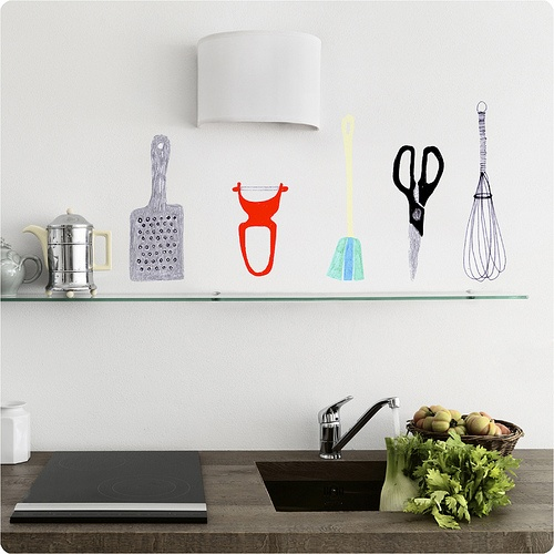 Wall Art Stickers Not On The High Street : Wall art with stickers contemporary home decor the