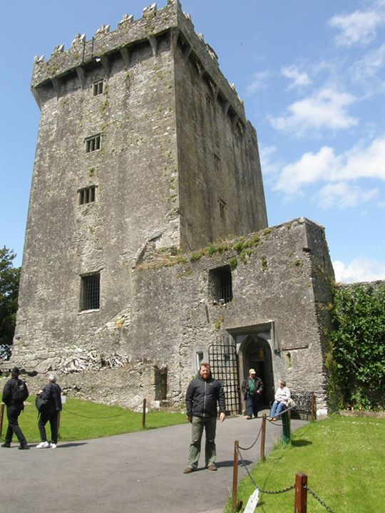About to kiss the Blarney Stone
