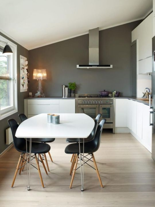 Charcoal & White Dining Area