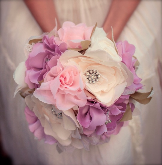 Lace & Fabric Bouquet